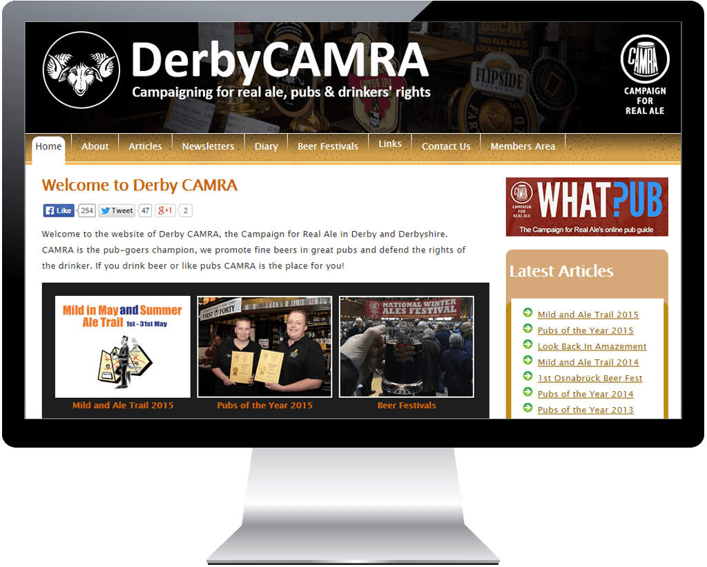 derby-camra-website