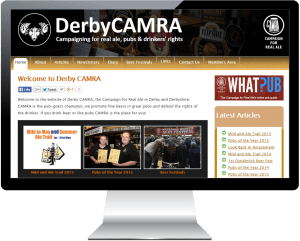 Derby CAMRA website takes TOP AWARD