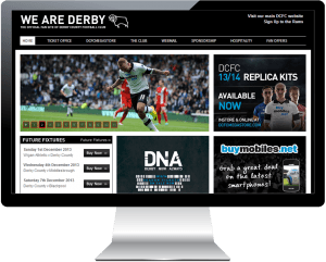Derby County Football Club sign new Web team